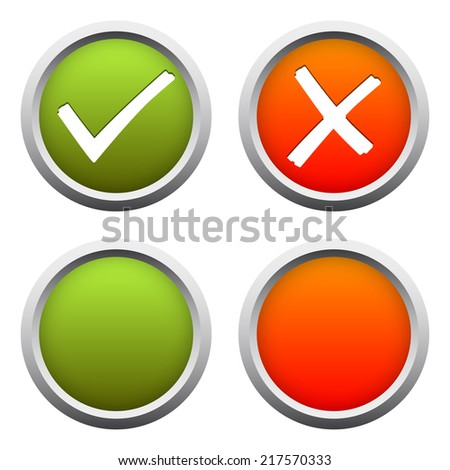 YES + NO buttons - stock vector