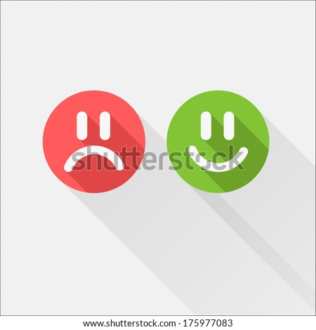 Yes-No Icon - stock vector