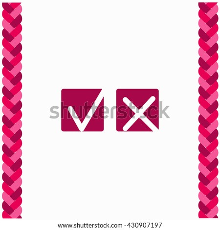 Yes or No icon Flat Design. Isolated Illustration. - stock vector