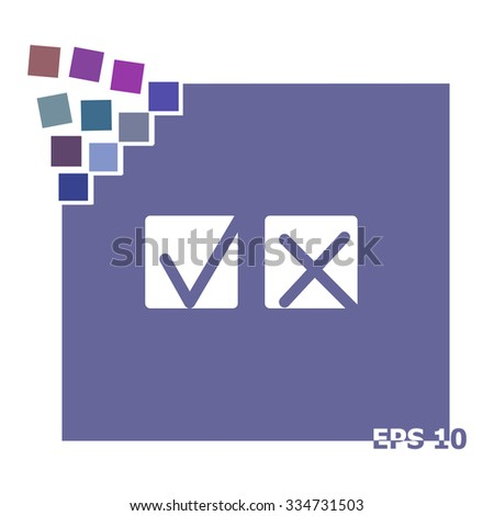Yes or No icons vector. - stock vector