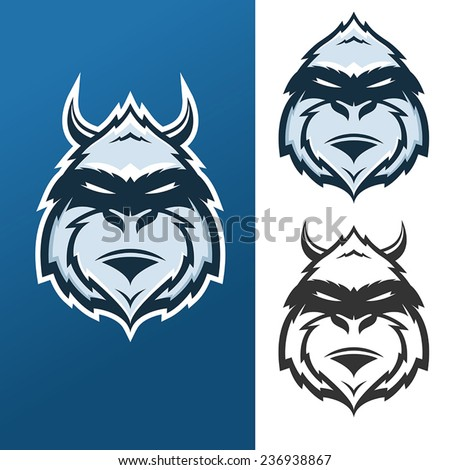 Yeti mascot for sport teams - stock vector