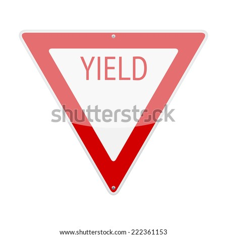 Yield traffic sign iso...