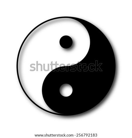 Yin and yang symbol, vector - stock vector