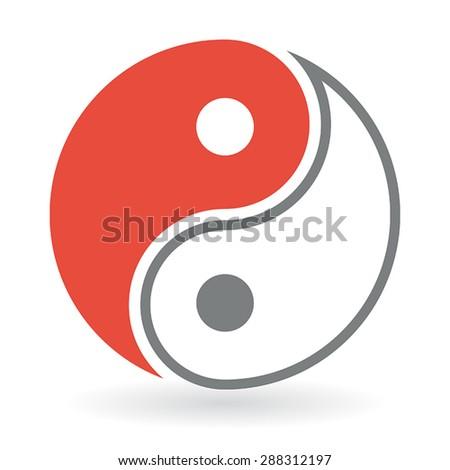 Yin Yang Symbol - stock vector