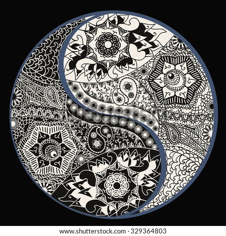 Fotinia 39 s portfolio on shutterstock for Decoration murale yin yang