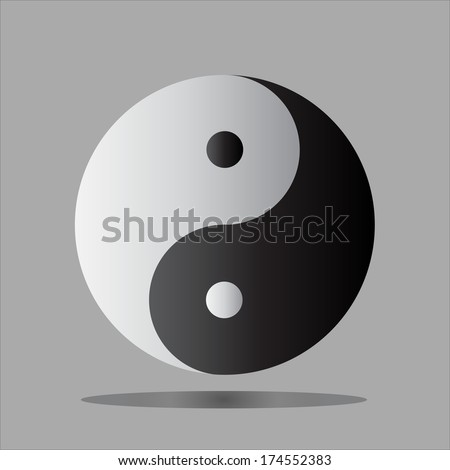 Yin Yang symbol of South Korea. - stock vector