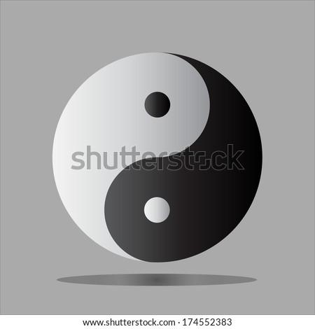 Yin Yang symbol of South Korea. - stock vector