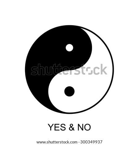 Yin Yang symbol. Vector - stock vector