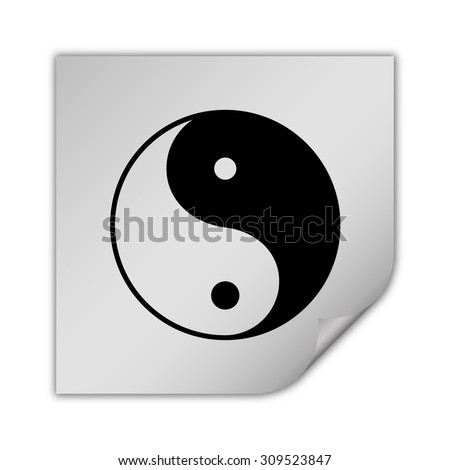 yin yang symbol vector icon - stock vector