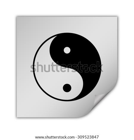 yin yang symbol vector icon - stock vector