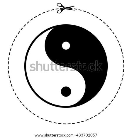 yin yang vector icon - stock vector