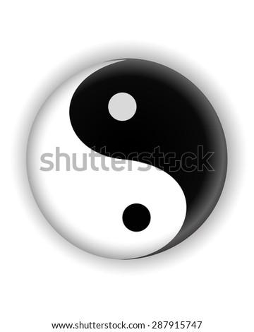 yin yang ying yang symbol vector icon - stock vector