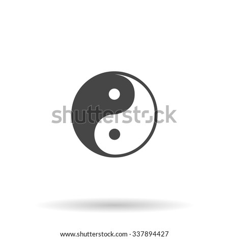 Ying-yang icon of harmony and balance. Icon Vector - stock vector
