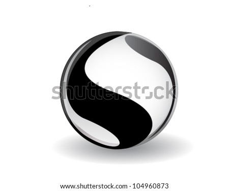 ying yang symbol - stock vector