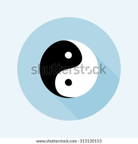 Ying yang symbol - vector illustration - stock vector