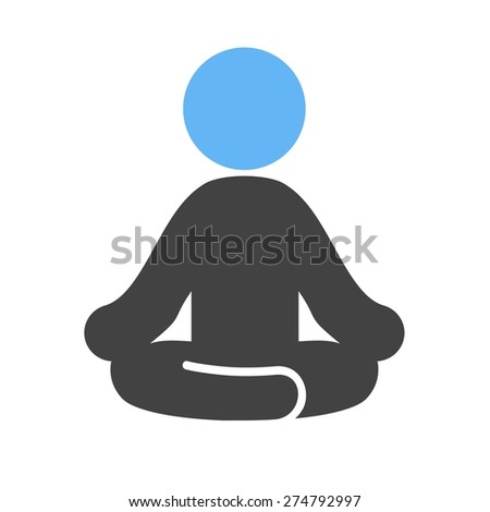Yoga, aerobics, exercise, fitness, sports icon vector image. Can also be used for fitness, recreation. Suitable for web apps, mobile apps and print media. - stock vector