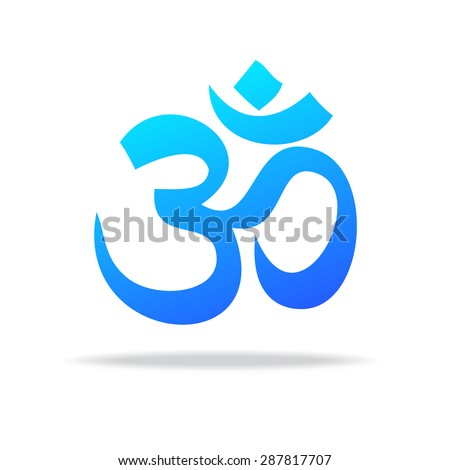 Yoga and spiritual development - template for a logo . The design concept of the sign. - stock vector