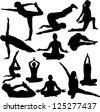 yoga collection - vector - stock vector