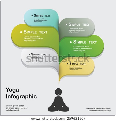 Yoga Healthy lifestyle infographic,vector.  - stock vector