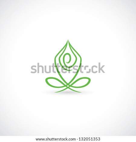 Yoga lotus pose - vector illustration - stock vector