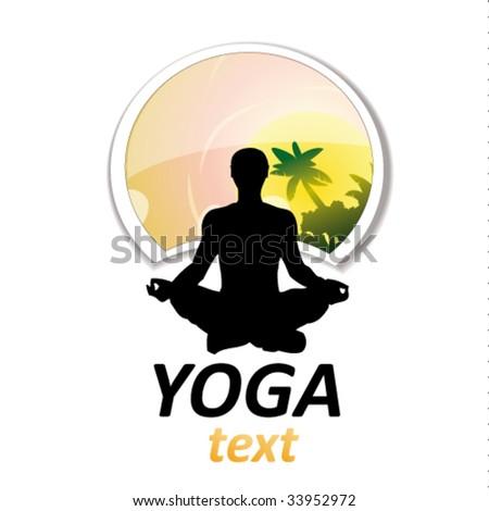 yoga sign #8 - stock vector