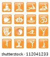 Yoga_spa_massage_buttons - stock vector