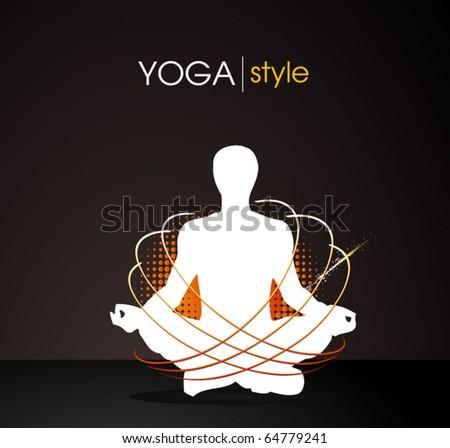 yoga style - vector poster - stock vector