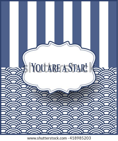 You are a Star! retro style card, banner or poster - stock vector
