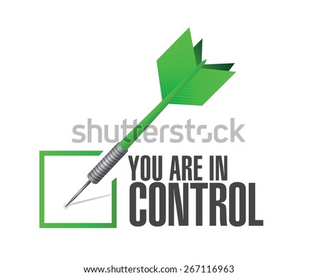 you are in control check dart sign concept illustration design graphic - stock vector