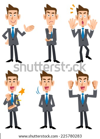Young businessman (frontal) - stock vector