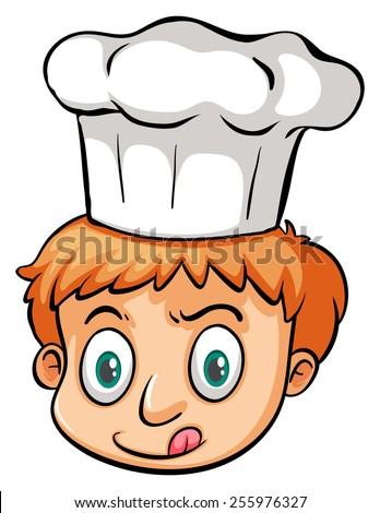 Young chef on a white background - stock vector