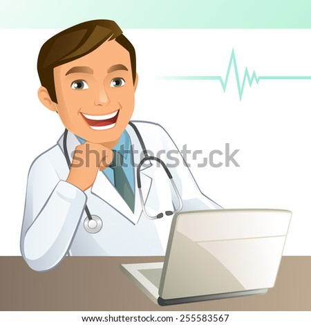 Young Doctor - stock vector