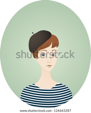 Stock Images similar to ID 54704371 - french beret cartoon