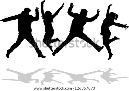Young people on the party - stock vector