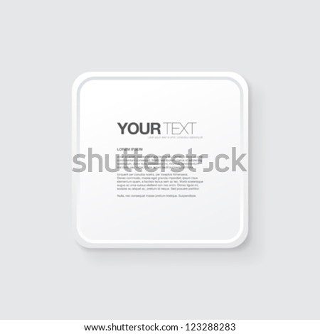 Your abstract greyscale text box background design vector - stock vector