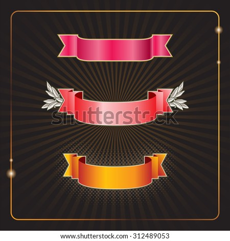 Your choice of three banners on a creative background - stock vector