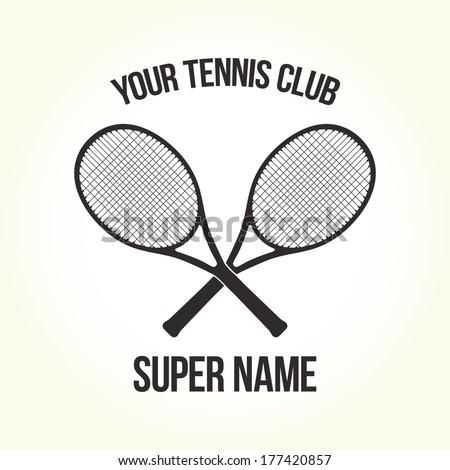 Your tennis club logo isolated vector  - stock vector