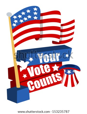 your vote counts - Election Day Vector Illustration - stock vector