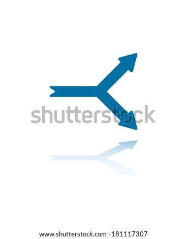 Ywo Arrowheads Pointing Upwards and Downwards - stock vector
