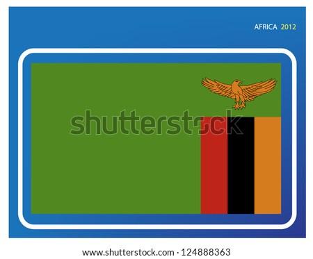 Zambia flag - stock vector