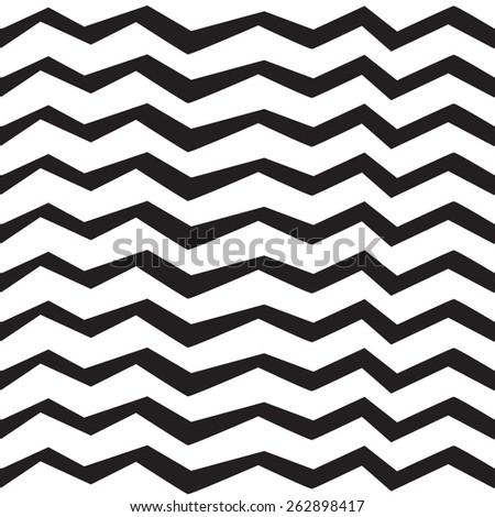Zebra black and white stripes pattern - stock vector