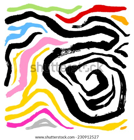 zebra print - hand drawn in vector / color Version - stock vector