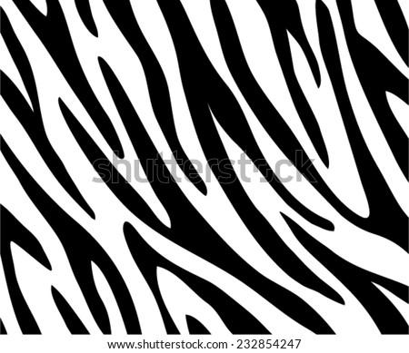 Zebra print vector background  - stock vector