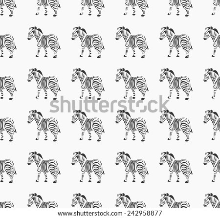Zebra seamless. Vector background. - stock vector