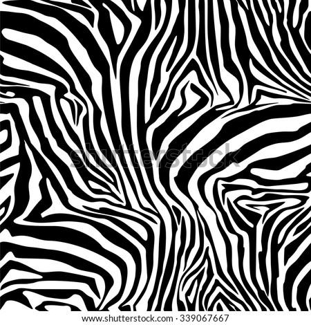 Zebra Stripes . Background. Pattern. A seamless pattern. - stock vector