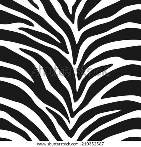 Zebra Stripes Seamless Pattern 2 - stock vector