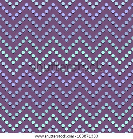 zig zag dots - stock vector