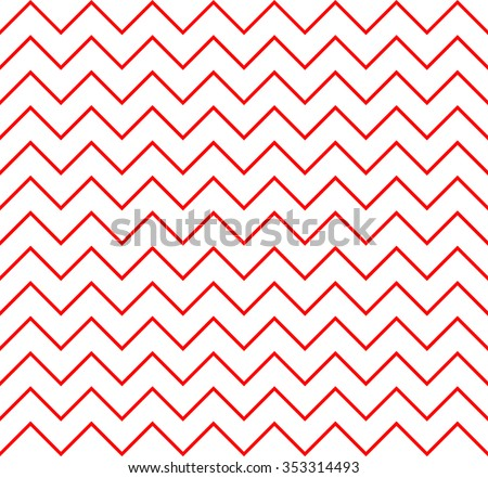 zigzag pattern background with monochrome.red tone - stock vector