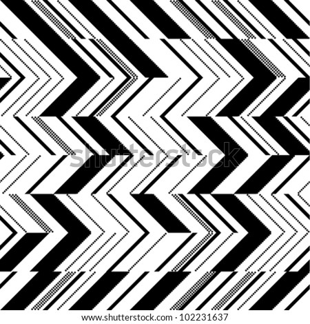 Zigzag pattern in two colors - stock vector
