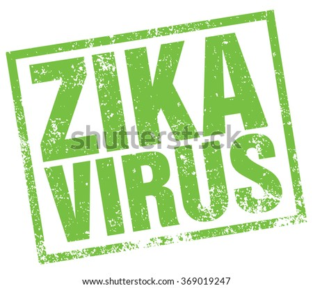 zika virus stamp - stock vector